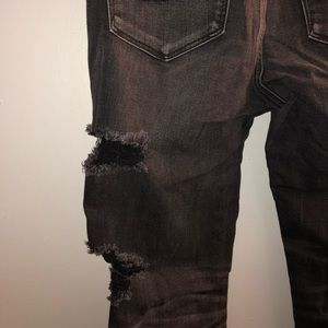 American Eagle Outfitters Jeans - High Rise Black ripped denim jeans